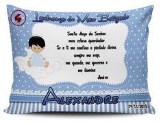 Almofada Personalizada para Batizado - modelo 4 (Pano e Arte)