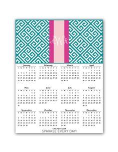 Printable 2015 Calendar (Greek Key)