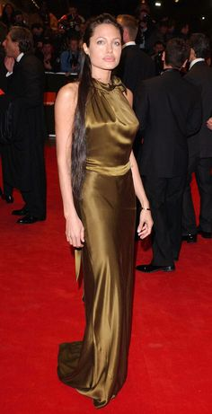 At the Orange British Academy Film Awards, her hair was down-to-there while wearing this green Colette Dinigan number.   - MarieClaire.com