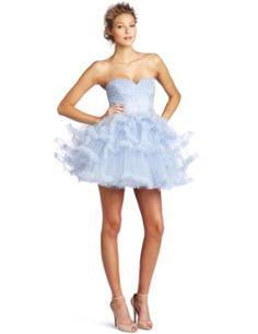 Betsey Johnson Women s Clear Skies Strapless Dress  Amazon.com  Clothing  Betsey Johnson Dresses 6e6c312952c1