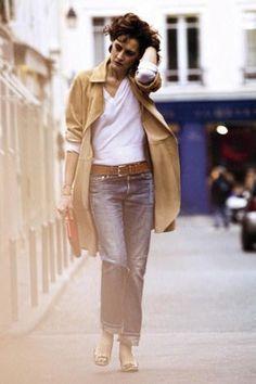 Inès de la Fressange... She is all things Paris. ~ Follow my board (La Parisienne @ Lyne Labrèche) for more inspiration!
