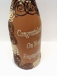 Champagne Bottle #EngagementPresent #Chocolategift #SkelligsChocolate Engagement Presents, Chocolate Gifts, Champagne, Bottle, Flask, Engagement Gifts, Jars