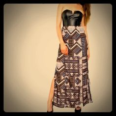 Anthropologie tribal maxi New with tags, tribal maxi dress from Anthropologie. Size 6. Anthropologie Dresses Maxi