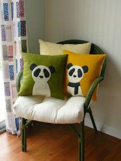 Hello Panda - Olive Green. $36.00, via Etsy.