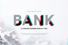 Ad: Bank typeface by Twinbrush Image Forge on Bank Typeface. A striking modern display font in two styles, (designed to be layered). Bank (now called BankNue) is a modern, all caps Font Design, Design Typography, Web Design, Graphic Design, Design Styles, Great Fonts, Cool Fonts, Modern Typeface, Typeface Font