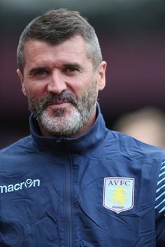 Roy Keane Photos - Roy Keane, the Aston Villa assistant coach looks on during the pre season friendly match between Aston Villa and Parma at Villa Park on August 2014 in Birmingham, England. - Aston Villa v Parma Roy Keane, Assistant Manager, Villa Park, August 9, Aston Villa, Parma, Birmingham, Graphic Sweatshirt