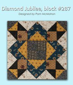 100 Blocks Sampler Sew Along Block 36: Diamond Jubilee designed by Pam McMahon #100BlocksSampler