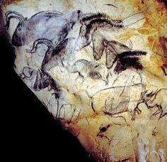 The first graffiti - 30,000 year old drawing in Chauvet cave, France.