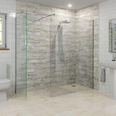 Modern Walk In Wet Room Shower Screen Panel Easy Clean Safety Glass - Wet Room Bathroom, Glass Bathroom, Bathroom Layout, Bathroom Interior Design, Small Bathroom, Bathroom Ideas, Bathroom Mirrors, Bathroom Cabinets, Bathroom Organization