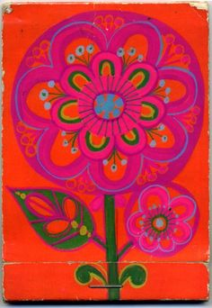 pink and red notepad made around 1970 by Hallmark