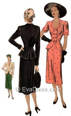 1946 Ladies' 2-Piece Suit Dress