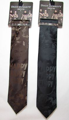 DUCK DYNASTY Men's Polyester Neck Tie Camo Phil Panle DD001037