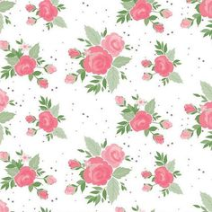 Winifred Rose Main White Floral Fabric by Christopher Thompson - Riley Blake Fabrics Christopher Thompson, Block Of The Month, Riley Blake, Design 24, Pdf Patterns, Floral Bouquets, Floral Fabric, Pink Roses, Fabric Design