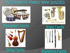 Instrument Family PowerPoint Mini Quizzes Bundle product from Music-and-Technology on TeachersNotebook.com