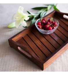 BUY ExclusiveLane Sheesham Wooden Tray In Brown