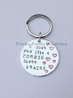 Custom keyring  I love you like...  choose your by PFJewelleryshop