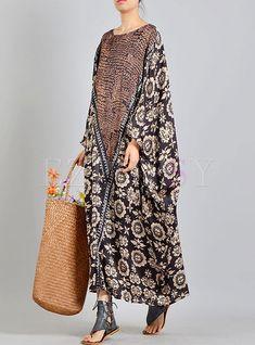Silk Print Batwing Plus Size Dress - Cute Outfits Modest Dresses, Plus Size Dresses, Plus Size Outfits, Casual Dresses, Beach Dresses, Wedding Dresses, Abaya Fashion, Fashion Dresses, Simple Short Dresses