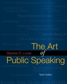 The Art of Public Speaking, 10th Edition by Stephen E. Lucas, http://www.amazon.com/dp/0073385158/ref=cm_sw_r_pi_dp_l-Z1sb0G1DR6T