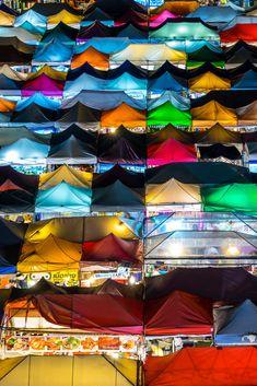 Ratchada Rot Fai train night market in the heart of Bangkok, Thailand Bangkok Thailand, In The Heart, Train, Marketing, Night, Strollers