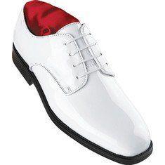 Boy's white tuxedo shoes for ring bearer or ushers.