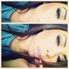 Her Makeup<3  pretty girrrrl.
