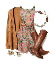 Love pattern on this dress, as well as the fit!  Great look for fall!