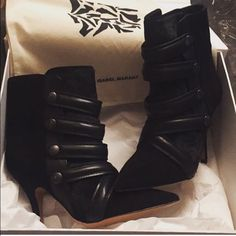 Isabel Marant 'Tacy' booties brand new in the box w/ dustbags, as seen on Kristin Cavallari and numerous models/celebs. Not sure if I want to sell but I never wear these, SERIOUS inquiries/buyers only please. Orig. retails $1500 Isabel Marant Shoes Ankle Boots & Booties