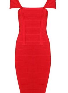 Red Boatneck Bandage Dress,  Dress, Bandage Bodycon Women Evening, Chic