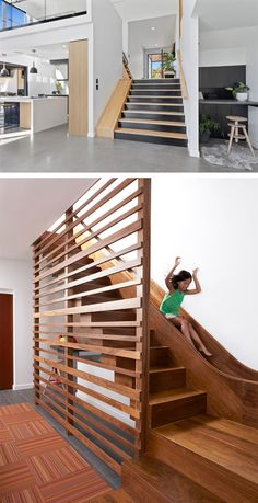 20 Playful and Creative Indoor Slide and Stairs Combination Indoor Slide Stairs, Stair Slide, Indoor Slides, Stairs With Slide, Girl Bedroom Designs, House Stairs, Staircase Design, Dream Rooms, Home Decor Furniture
