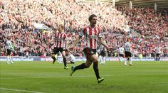 Sunderland's Fabio Borini is the hero in the Tyne- Wear Derby as he scores a rocket for his Sunderland goal in Gus Poyet's first home game in charge of the Black Cats Sunderland Football, Sunderland Afc, Black Cats, Scores, Derby, Goal, In This Moment, Seasons