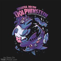 Shop Doc Dolphinstein horror t-shirts designed by Ilustrata as well as other horror merchandise at TeePublic. Frankenstein, Graffiti Cartoons, Animes Wallpapers, Fanart, Cool Stickers, Retro, Japanese Art, Concept Art, Cool Bands
