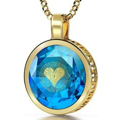 """I Love You"" in 120 Languages, 24k Gold Plated Necklace, Cubic Zirconia"
