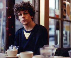 Jesse Eisenberg at breakfast.