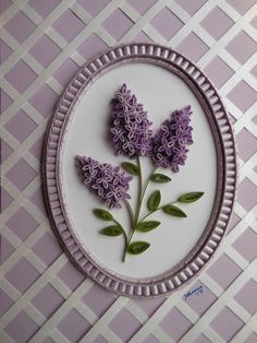 quilling - lilacs