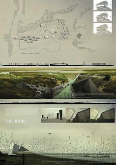 Renderings and Board Layout Finalistas. venice lagoon international competition - The park as a living museum of the slow death of the city. / realizado con Sebastian Mejia, Edgar Mazo y Juan Pablo Martinez / Architecture Panel, Architecture Graphics, Architecture Drawings, Landscape Architecture, Landscape Design, Architecture Design, Architecture Presentation Board, Presentation Layout, Presentation Boards