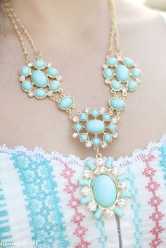 Deb Shops Mint Necklace