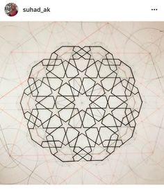 İ Islamic Motifs, Islamic Art Pattern, Arabic Pattern, Mandala Pattern, Pattern Art, Arabesque, Multi Canvas Painting, Math Patterns, Plafond Design