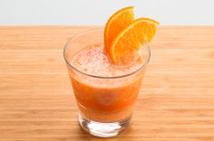 Juice Your Way to...Wake Up Right Now! | Beautylish 3 roughly peeled oranges 1 sweet potato 1 red bell pepper thumb-sized piece of ginger