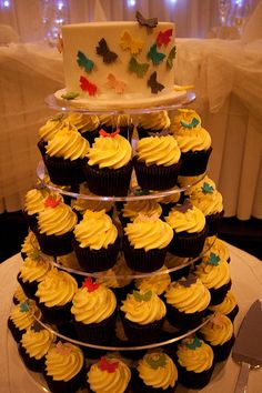 Very Simple but needs more cupcakes and a few more tiers