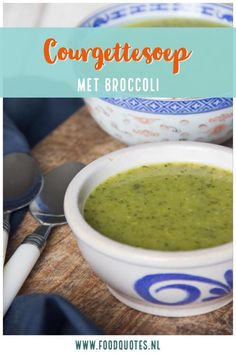 Courgettesoep met broccoli - FoodQuotes Pumpkin Recipes, Soup Recipes, Vegan Corn Chowder, Vegan Tortilla, Healthy Mexican Recipes, Vegan Lentil Soup, Vegan Ramen, Cauliflower Soup, Good Food