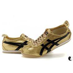 Asics Onitsuka Tiger Mexico 66 Mens Shoes Gold Black