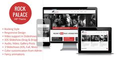 Rock Palace - a Responsive Music WordPress Theme (Entertainment)
