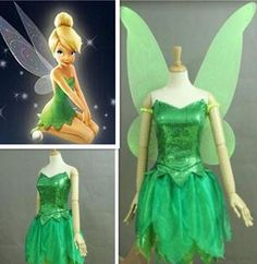 Tinkerbell Costume with Wings, Tinkerbell Cosplay Costume with Wings