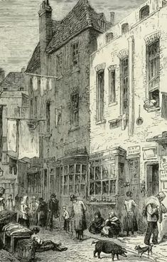 Up until the 20th century, London was filled with squalid slums known as Rookeries. The most famous was in St Giles, though other Rookeries include Rosemary Lane and Jacob's Island in Bermondsey.