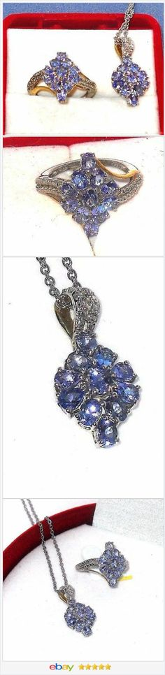 Tanzanite Set Ring size 6 and Pendant  50% off #ebay http://stores.ebay.com/JEWELRY-AND-GIFTS-BY-ALICE-AND-ANN