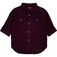 Mini boys dark red Oxford shirt - baby boys tops - mini boys - boys £12