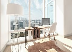 High Table Style Creates Your Work Space More Enticing has been featured! You can find out Amazing Home design for your Home. You should not worry anything since we have created the masterpiece only for you! Just check this out! Ikea Home Office, Office Workspace, Home Office Furniture, Small Workspace, Building Furniture, Office Spaces, Work Spaces, Interior Design Trends, Office Interior Design