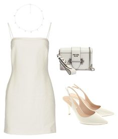 """""""Untitled #44"""" by angeline-mewengkang on Polyvore featuring Bec & Bridge, Pura López, Prada and The M Jewelers NY"""