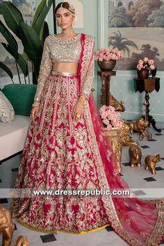 Republic Bridal Dresses 2019 Buffalo, Rochester, Albany, New York. Buy amazing bridal dresses with custom made-to-measure service. Desi Wedding Dresses, Asian Bridal Dresses, Pakistani Bridal Dresses, Bridal Outfits, Indian Dresses, Dress Wedding, Wedding Wear, Formal Dresses, Indian Wedding Lehenga