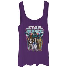 Star Wars Junior's - Darth Vader Attack Tank Top #fifthsun #starwars #darthvader #lukeskywalker #hansolor #obiwankenobi #chewbacca #r2d2 #c3po